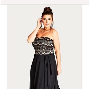 Lace Bodice Gown NWT (Strap or Strapless option)